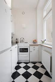 kitchen floor tiles small space: best black and white kitchen floor tile idea feat unique cabinet design for small space plus