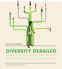 diversity derailed green  search firms serve two roles in diversifying senior leadership the first is to partner organizations to identify what they are looking