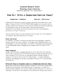 resume cover letter examples best of how to write for  resume compare and contrast essay topics compare contrast essay sample in 17 amazing an example