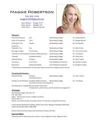 acting resume layout doc mittnastaliv tk acting resume layout