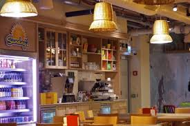 one of the many free for employees food and drink cafes within the tel aviv office google tel aviv cafeteria