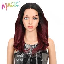 <b>MAGIC Hair</b> 150% Density <b>Ombre</b> Loose <b>Hair</b> Synthetic Lace <b>Wigs</b> ...