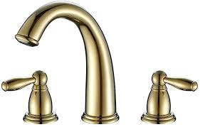 <b>Fapully</b> Contemporary Widespread Two Handle Centerset <b>Gold</b> ...
