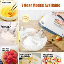 120W <b>7 Speed Control Hand</b> Mini Mixer Food Blender Egg Beater ...