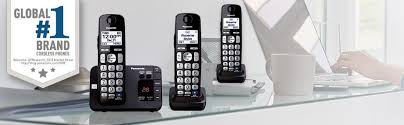 Panasonic KX TGE   B   Expandable Cordless Phone System with Answering Machine     Handsets Amazon com