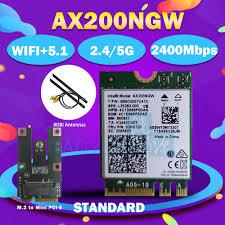 <b>Dual Band 2400Mbps Wireless</b> AX200NGW NGFF M.2 Bluetooth 5.0 ...