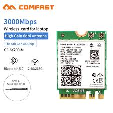 <b>Wireless Dual Band 2400Mbps</b> WiFi 6 For Intel AX200 NGFF M.2 ...