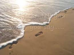 Image result for pictures of footsteps in sand being covered up
