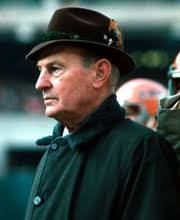 Paul Brown, perhaps more than any other person, is responsible for making pro football coaching the exact science it is today. - Brown_Paul_Action_180-220