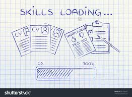 skills loading cv shortlist candidates progress stock illustration skills loading cv and shortlist of candidates progress bar concept of building a