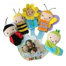 <b>5pcs</b>/set Cute <b>Animal Finger Puppet</b> Plush Toys Cartoon Biological ...