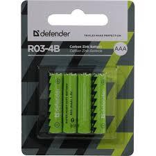 <b>Батарейки AAA Defender</b> R03-4B 4 шт. — купить в городе ОМСК