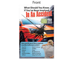flyer in an accident justus chiropractic marketing flyer in an accident