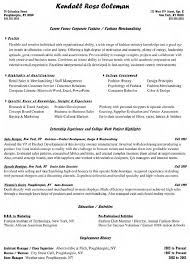 catchy assistant project manager resume project management effective corporate fashion and fashion merchandising assistant project manager resume kendall rose coleman a part