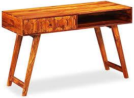 Festnight <b>Writing Table Solid Sheesham</b> Wood: Amazon.co.uk ...