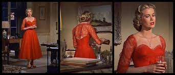 dial m for murder the blonde at the film dial m kelly red dress