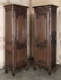 pair of country french normandie bonnetieres inessa stewarts antiques antique english country armoire circa 1830s