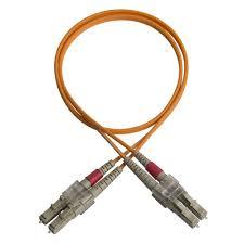 <b>Duplex patch cord</b>, <b>LC</b>-<b>LC</b>, 50/OM2/2000, orange Foss AS