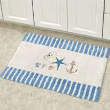 blue bath rug runner rugs antigua bath rug off white  x