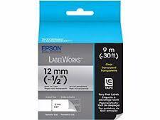 <b>Epson</b> Label Maker Tapes & Cartridges for sale | eBay