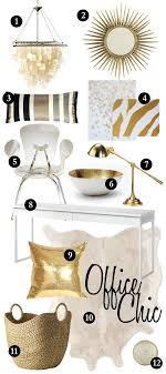 white and gold office chic office ideas 1000