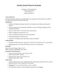 quality resume examples sample resumes quality resume examples sample resume of quality analyst business letter emailquality resume examples