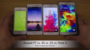 Huawei Ascend P7 vs. Apple iPhone 5S vs. Samsung Galaxy S5 vs ...