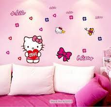 jual stiker tembok hello kitty: Jual hello kitty cartoon ay7131 stiker dinding wall sticker