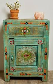 soooo pretty playful floral accents and eye catching details make up this eclectic bedside bohemian furniture