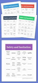 ideas about food safety and sanitation home safety and sanitation bingo
