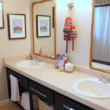 kids bathroom wall art  pretty small sinks design feat charming beach themed kids bathroom de
