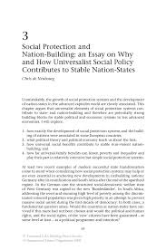 social protection and nation building an essay on why and how inside