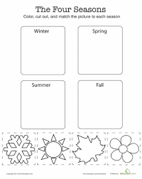 Kindergarten Science Worksheets & Free Printables | Education.comKindergarten. Science. Worksheet. Match the Four Seasons
