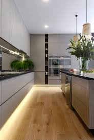 contemporary small open plan kitchen
