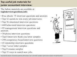 free pdf download 10 top useful job materials for junior accountant junior accountant resume