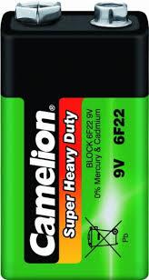 """<b>Батарейка</b> солевой <b>6F22</b> """"<b>крона</b>"""" 9В <b>CAMELION</b> - купить, цены ..."""