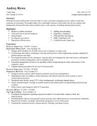 security supervisor resume getessay biz security supervisor examples law enforcement security for security supervisor