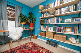 eclectic blue home office blue home office