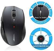<b>TeckNet Bluetooth Wireless Mouse</b>, Grey (BM308): Mice: Amazon ...