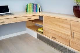 custom built in desk modern home office built office desk