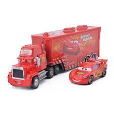 Disney Pixar <b>Cars 3 2pcs</b> Lightning McQueen Mack Uncle Container ...