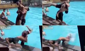 Teen smashes his head against the side of a pool as his friend ...