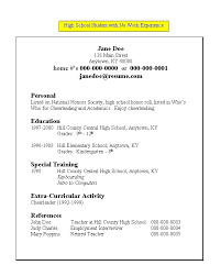 sample resume work experience  seangarrette coresume for high school student with no work experience   sample resume work experience