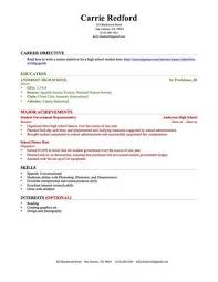 how to make a resume right out of high school   example good    how to make a resume right out of high school