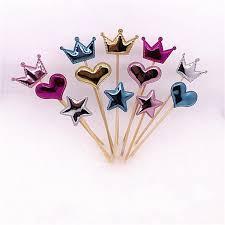 Fashion <b>Cupcake Flag</b> Crown Five Pointed Star <b>Love</b> Heart Shaped ...