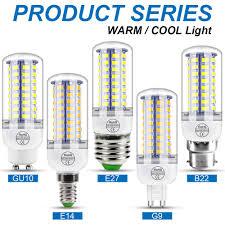 220V GU10 Led Lamp Bulb E14 Led Candle Light Bulb E27 Corn ...