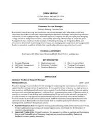 customer service resume  skills  objectives   templatescustomer service manager