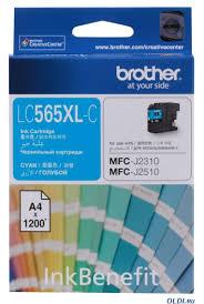 <b>Картридж Brother LC565XLC</b> голубой (cyan) 1200 стр. для Brother ...