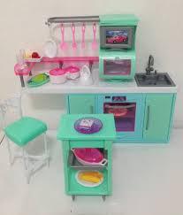 amazoncom barbie size dollhouse furniture cooking corner kitchen set toys amazoncom barbie size dollhouse