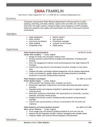 pr resume samples    printable resume templates samples    public